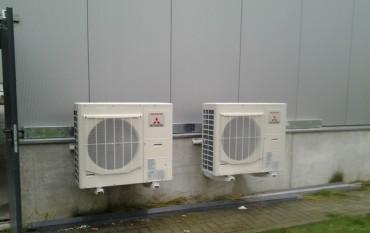 Installatie Mitsubishi warmtepomp inverter